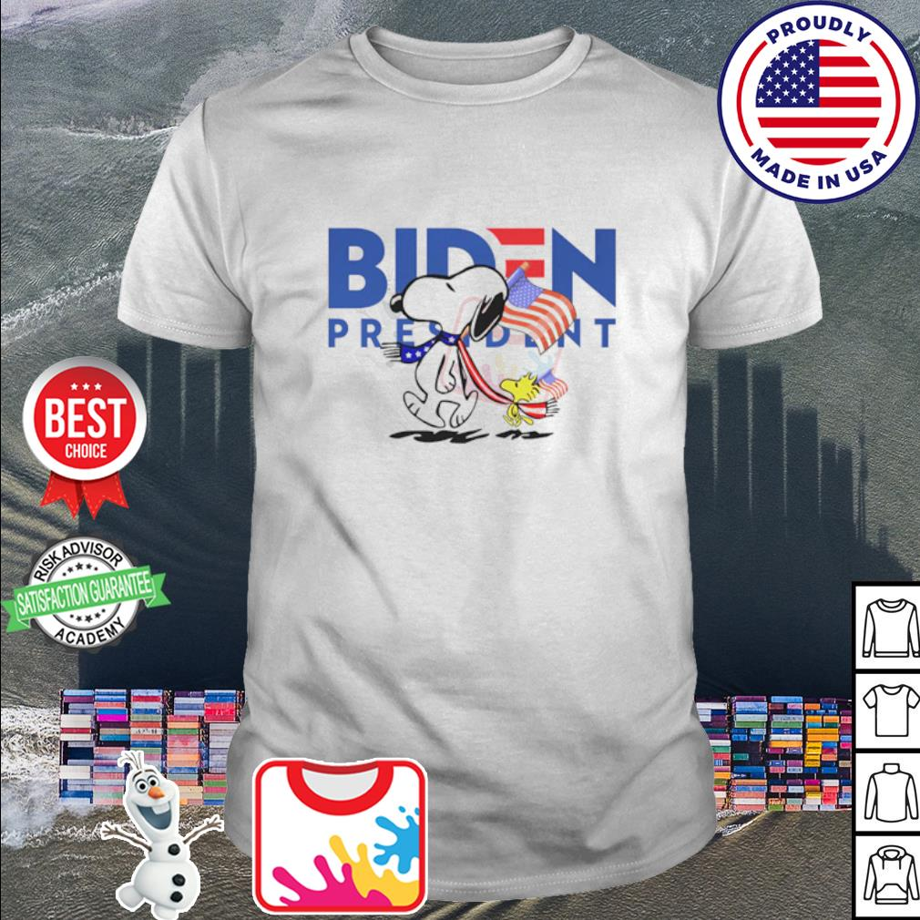 Snoopy and Woodstock vote Biden President shirt