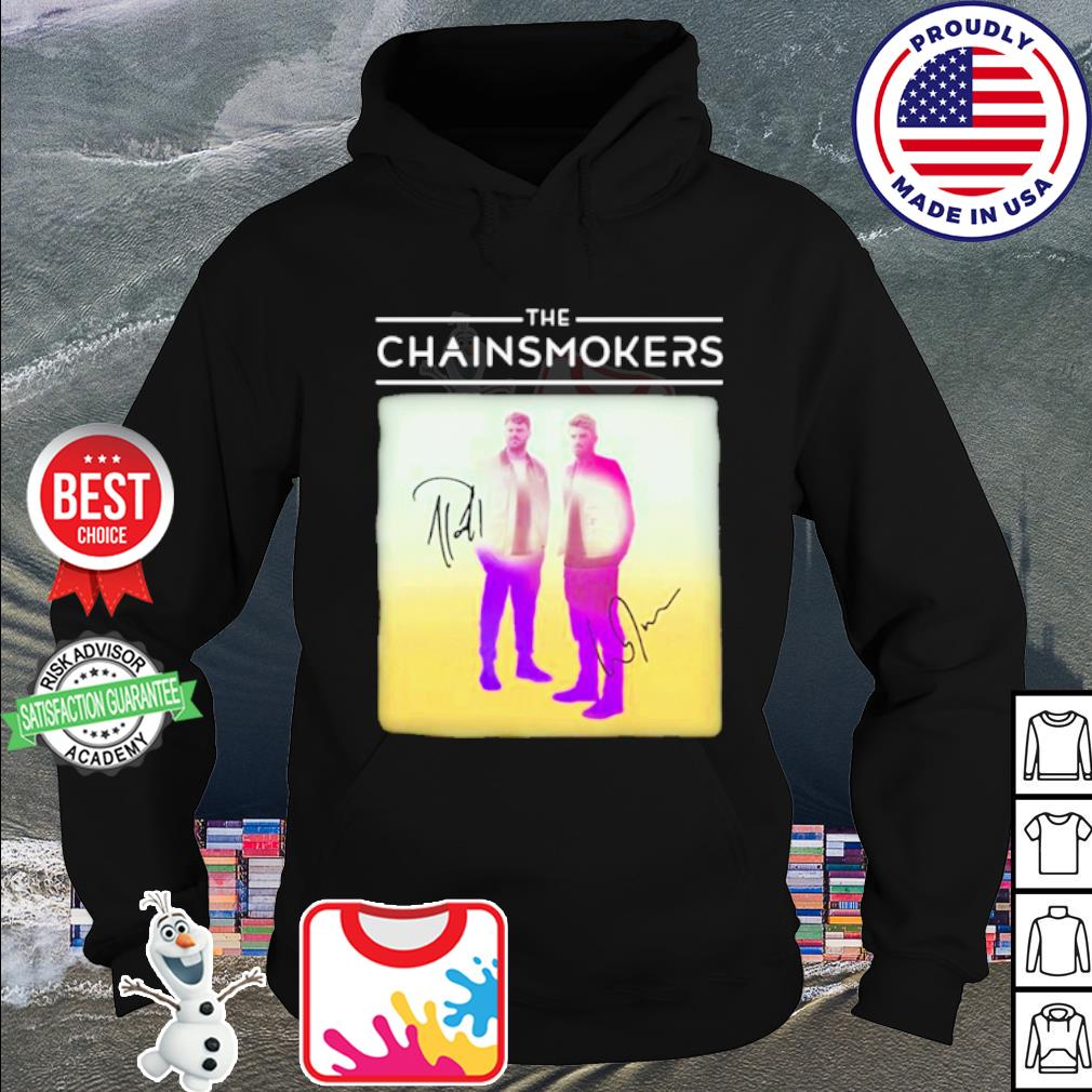 The chainsmokers members signatures s hoodie
