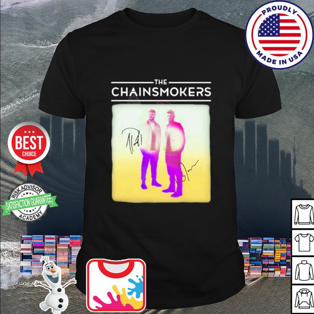 The chainsmokers members signatures shirt