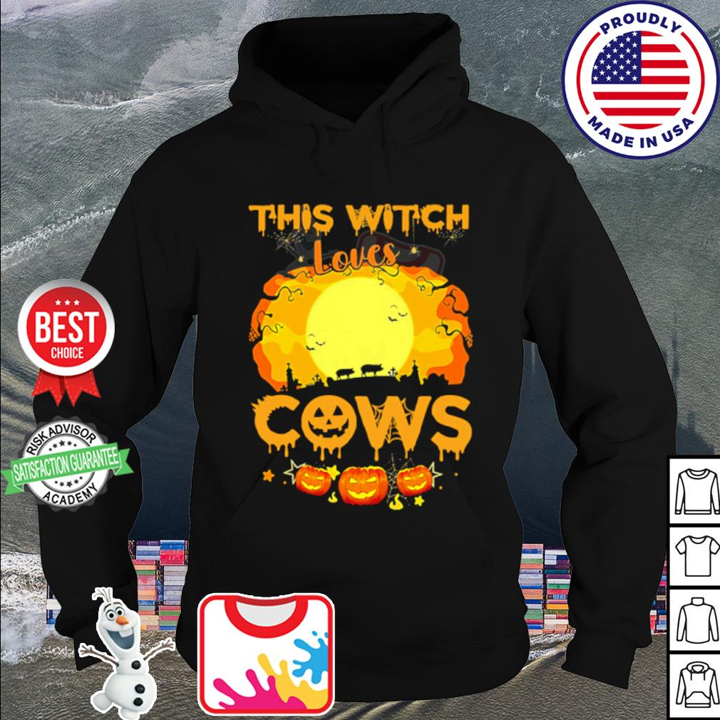 This Witch Loves Pigs cows Pumpkin Halloween s hoodie
