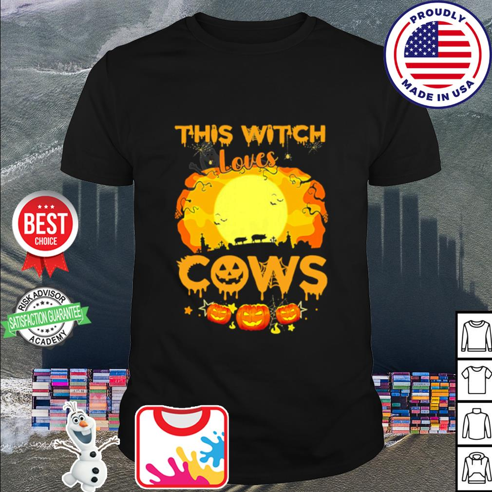 This Witch Loves Pigs cows Pumpkin Halloween shirt