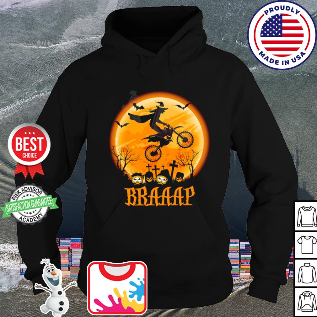 Witch Braap Motocross Halloween s hoodie