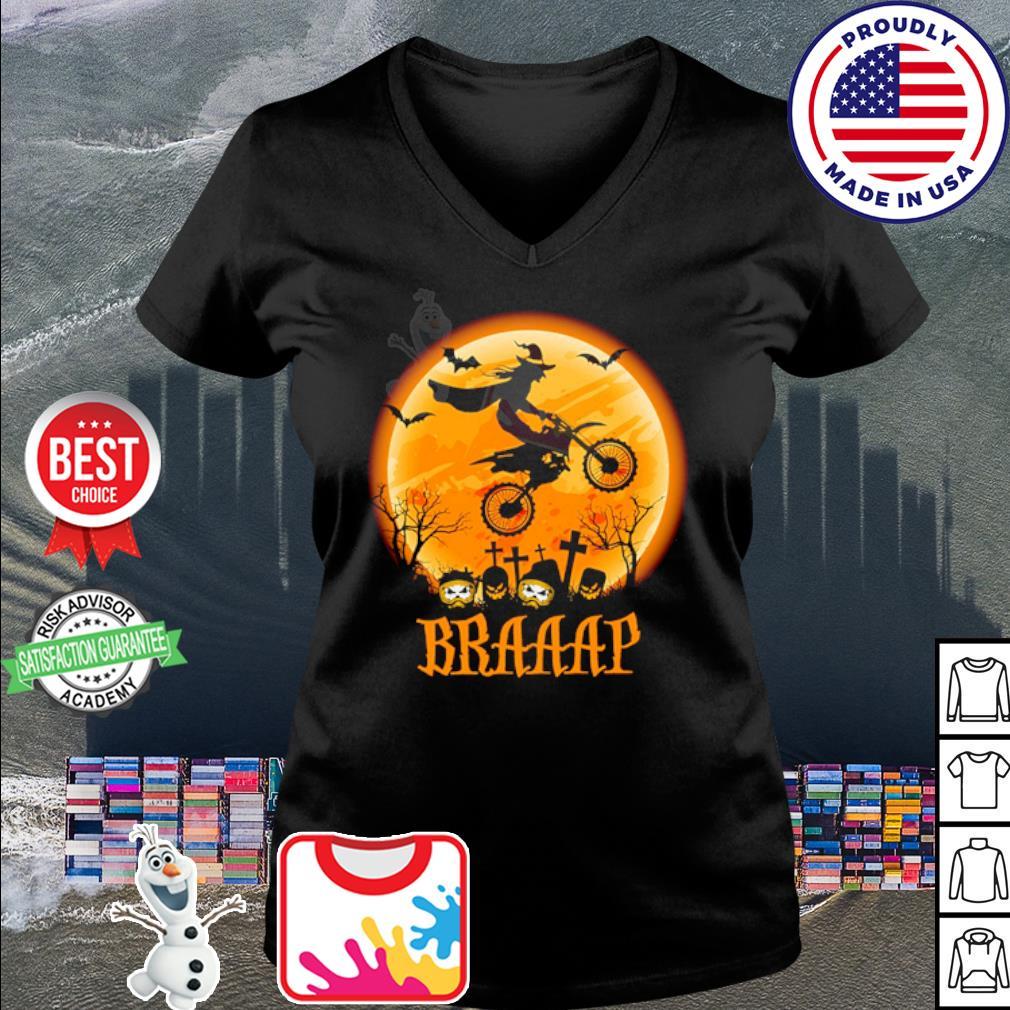 Witch Braap Motocross Halloween s v-neck t-shirt