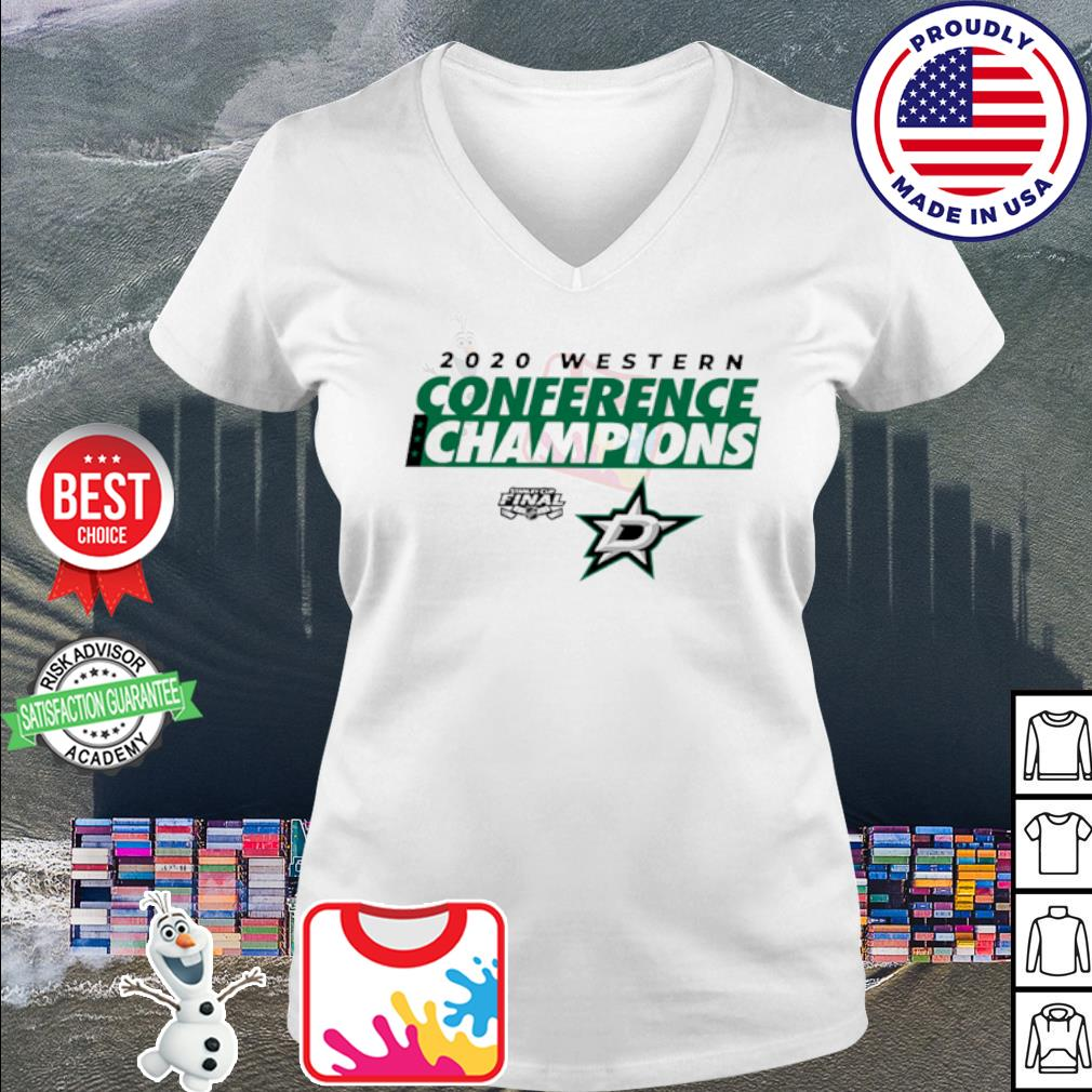 2020 Western Conference Champions Dallas Stars s v-neck t-shirt