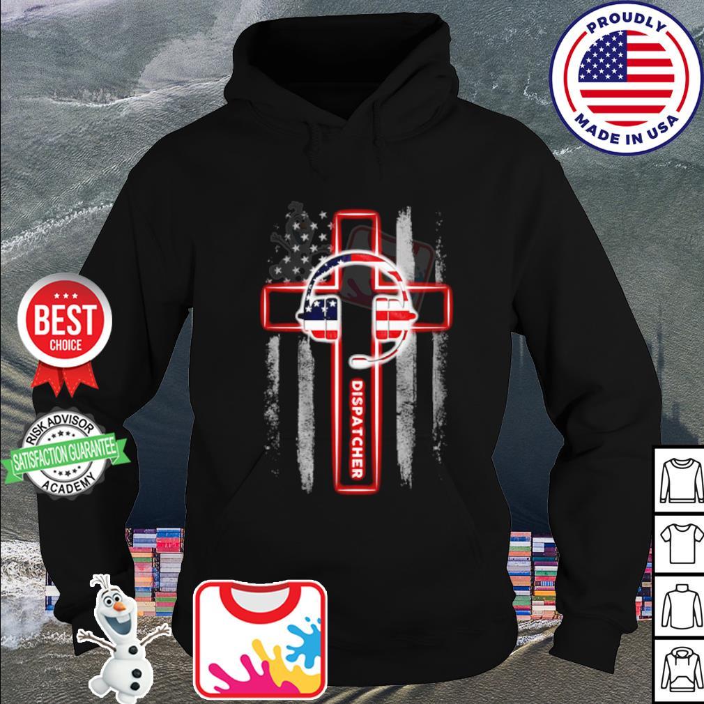 American flag Headphone Dispatcher s hoodie