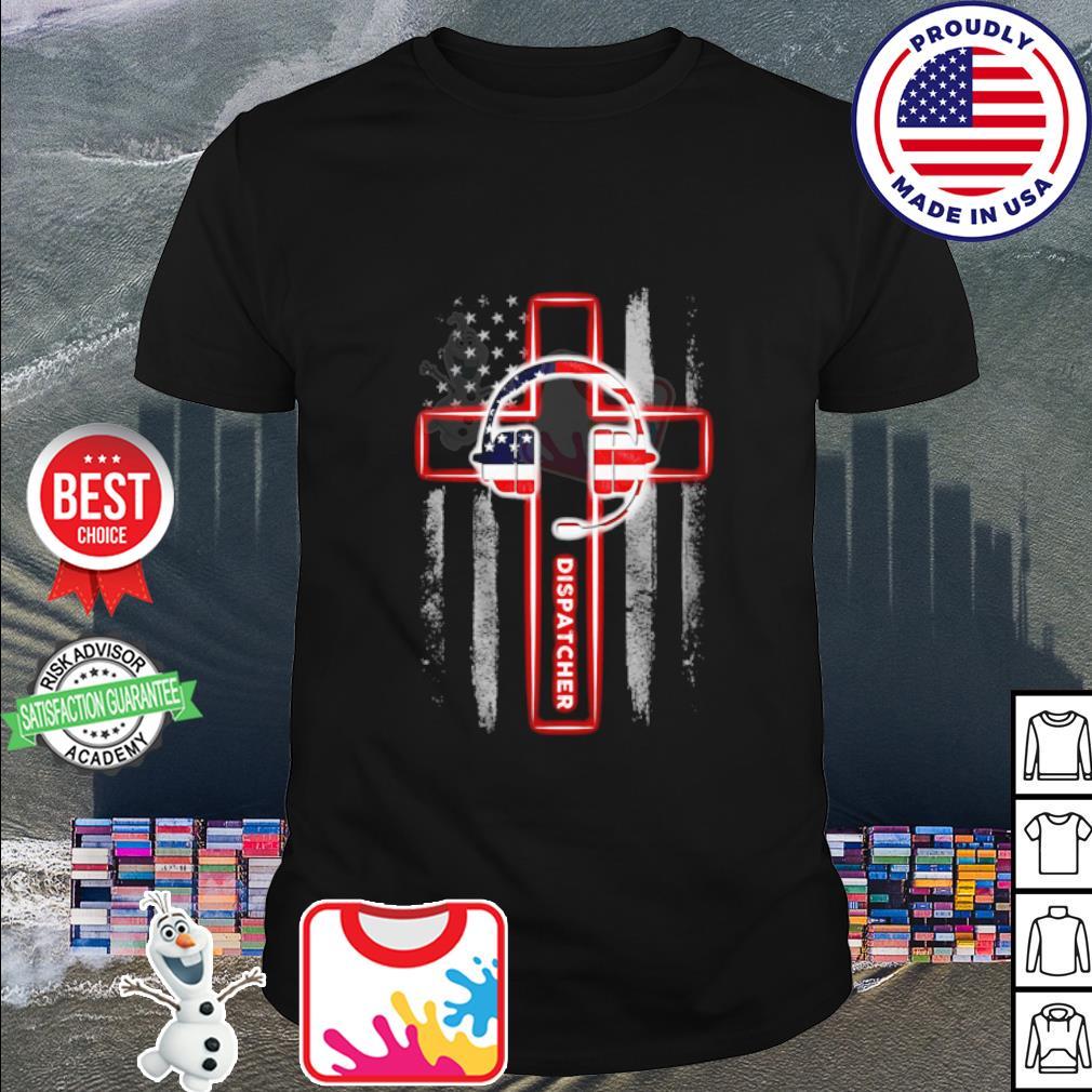 American flag Headphone Dispatcher shirt