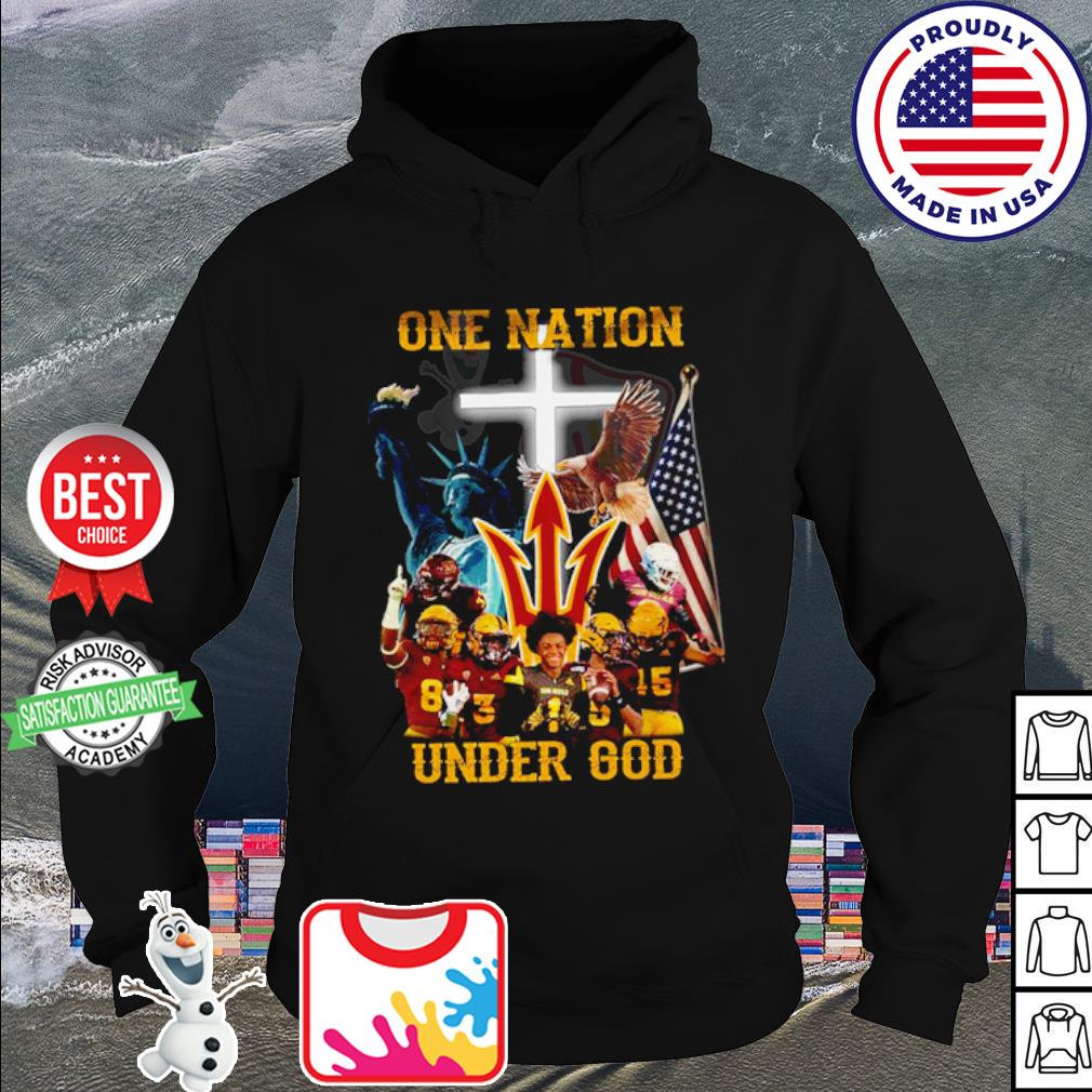 Arizona State Sun Devils one nation under god American falg s hoodie