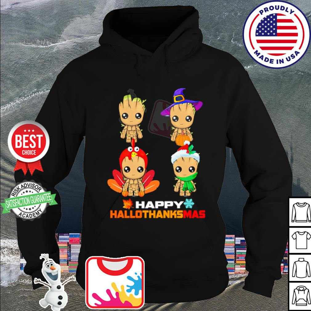 Baby Groot Happy Hallothanksmas s hoodie
