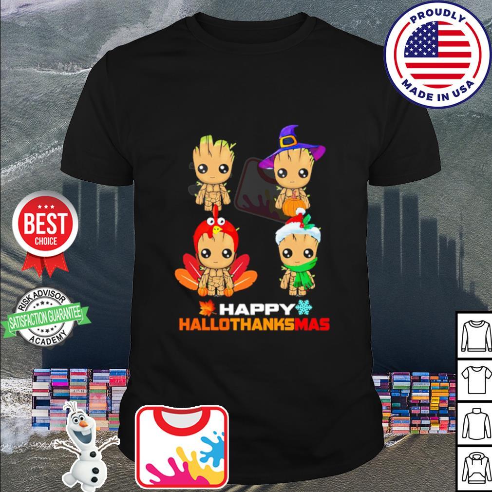 Baby Groot Happy Hallothanksmas shirt