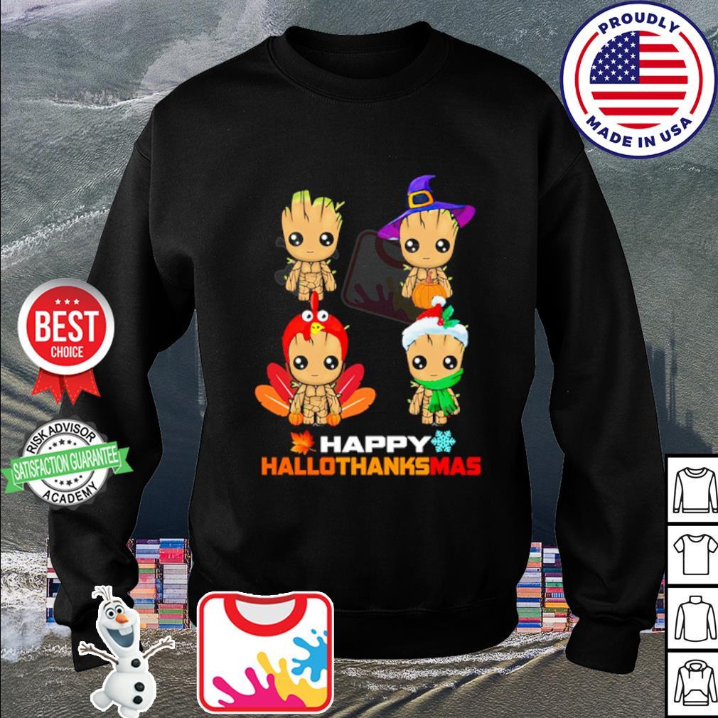 Baby Groot Happy Hallothanksmas s sweater