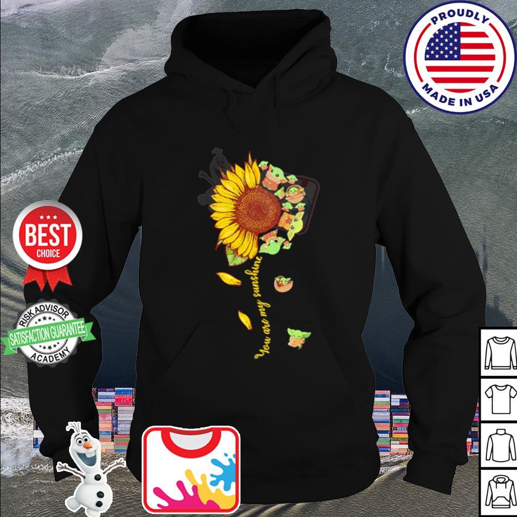 Baby Yoda you are my sunshine flower s hoodie