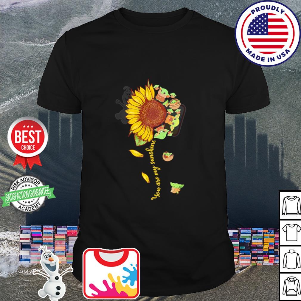 Baby Yoda you are my sunshine flower shirt