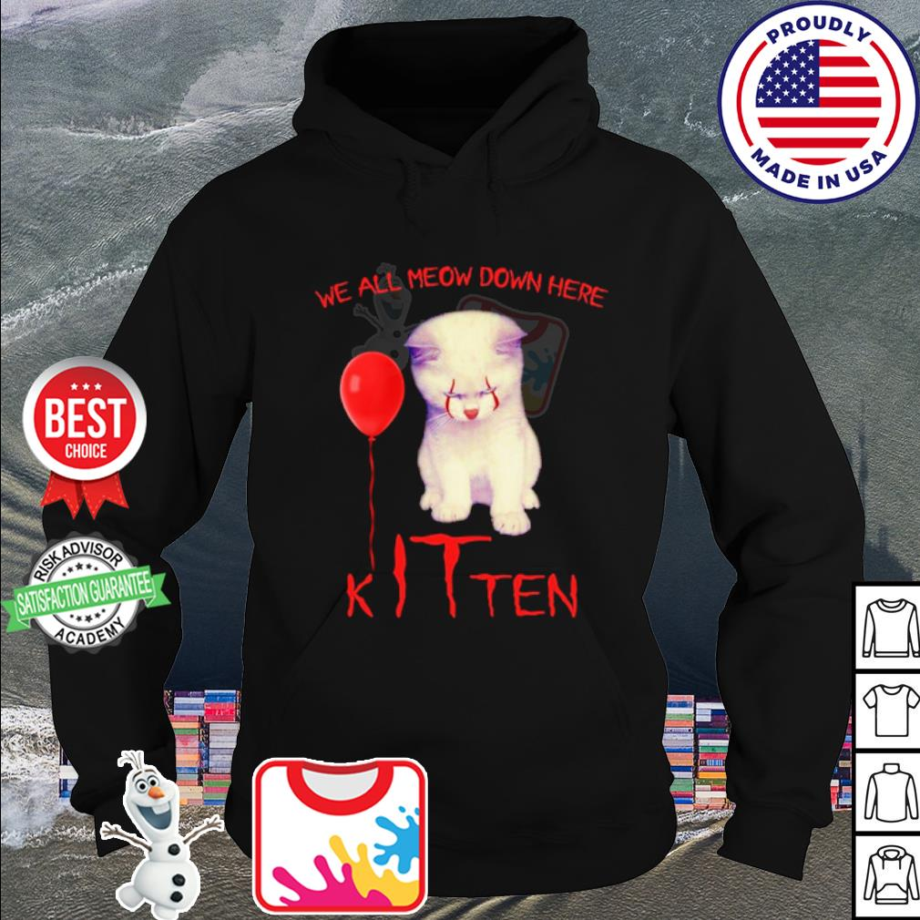 Cat IT we all meow down here Kitten s hoodie