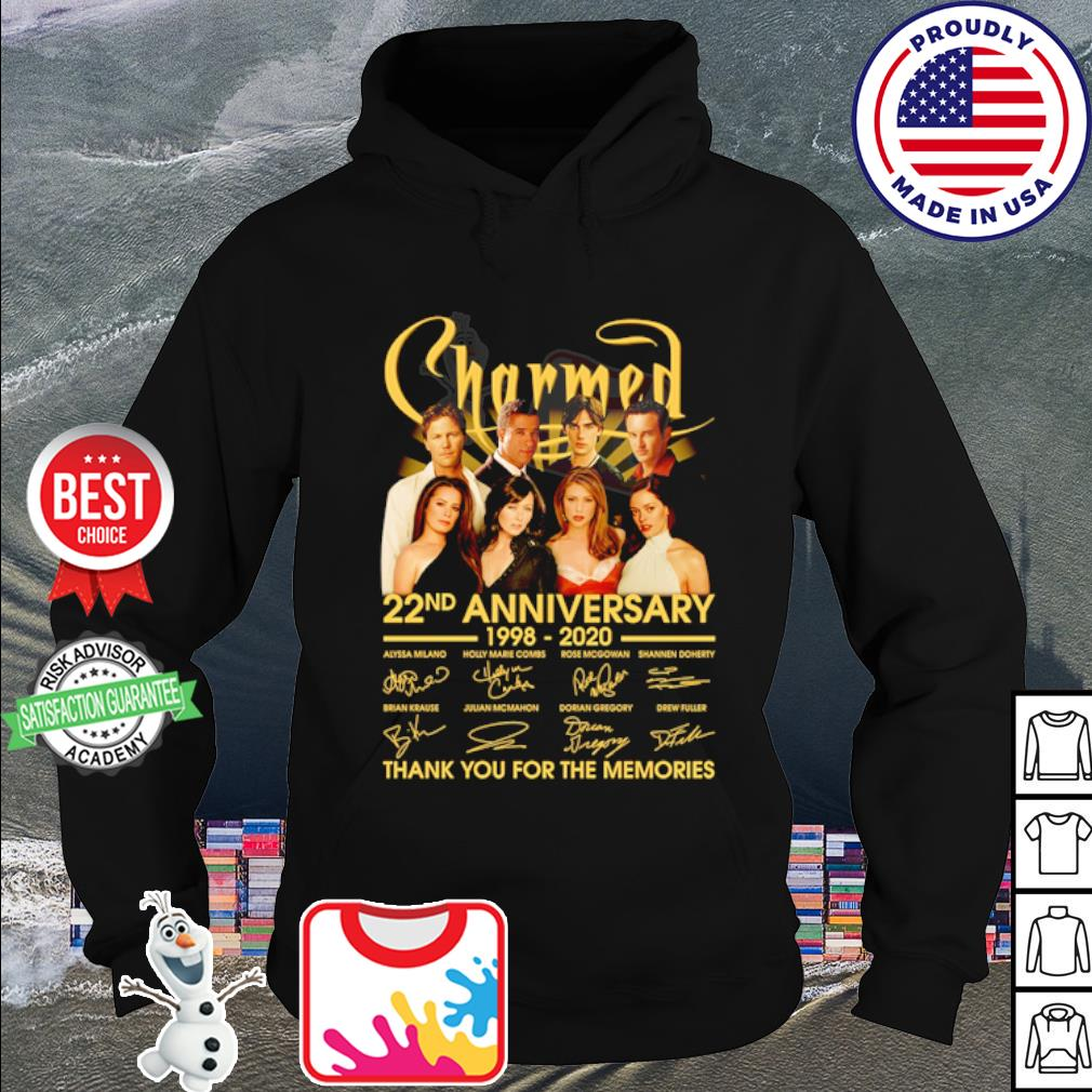 Charmed 22nd anniversary 1998 2020 thank You for the memories signatures s hoodie