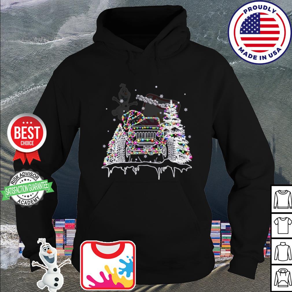 Christmas Jeep light s hoodie