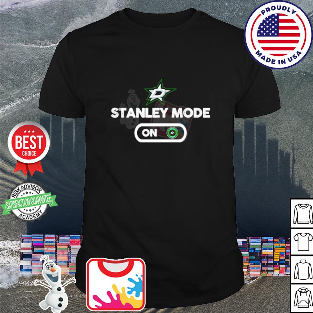 Dallas Stars Stanley mode on shirt