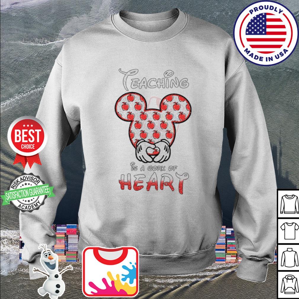 Disney Mickey Teaching is a work of heart Apple s sweater