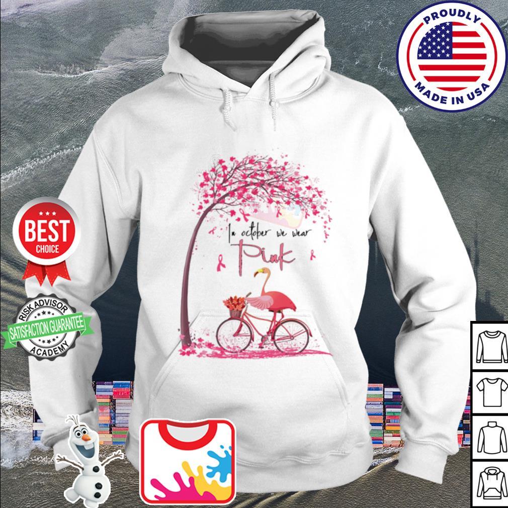 Flamingo In October we wear Pink Bicycle s hoodie