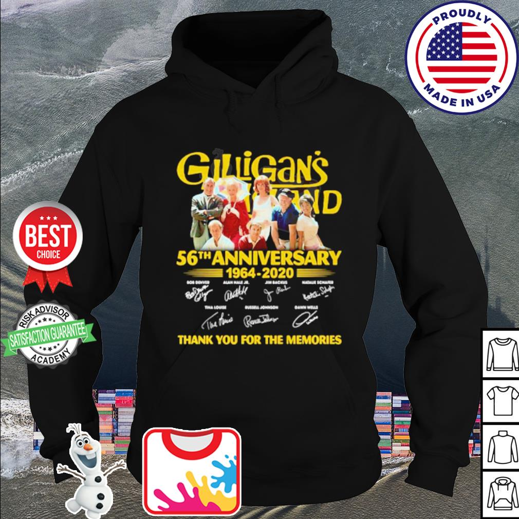 Gilligan's Island 56th Anniversary 1964-2020 thank you for the memories s hoodie
