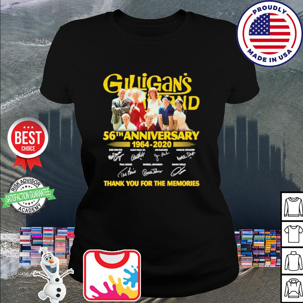 Gilligan's Island 56th Anniversary 1964-2020 thank you for the memories s ladies tee