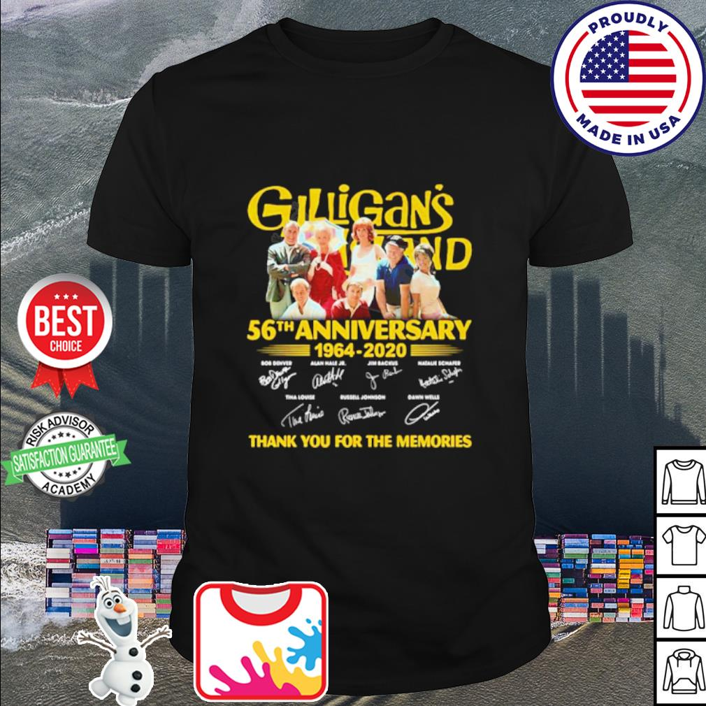 Gilligan's Island 56th Anniversary 1964-2020 thank you for the memories shirt