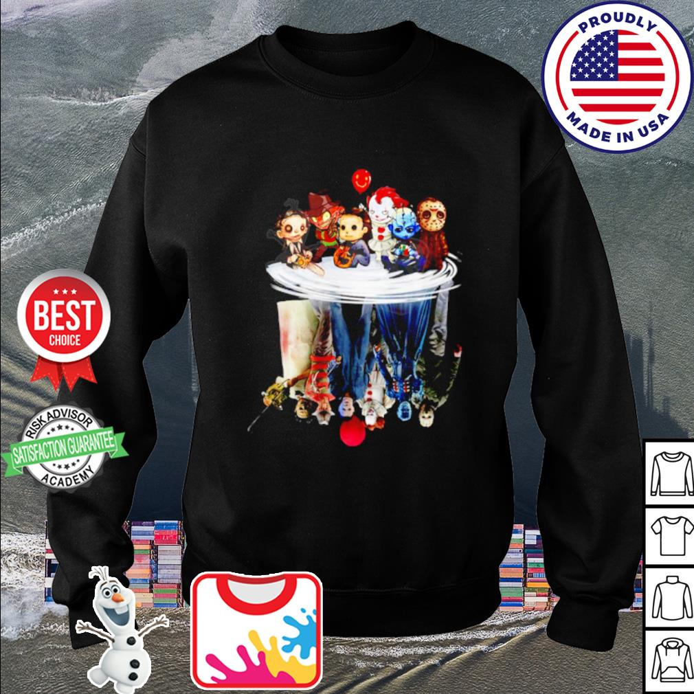 Halloween Horror Movies Characters Chibi water reflection mirror s sweater