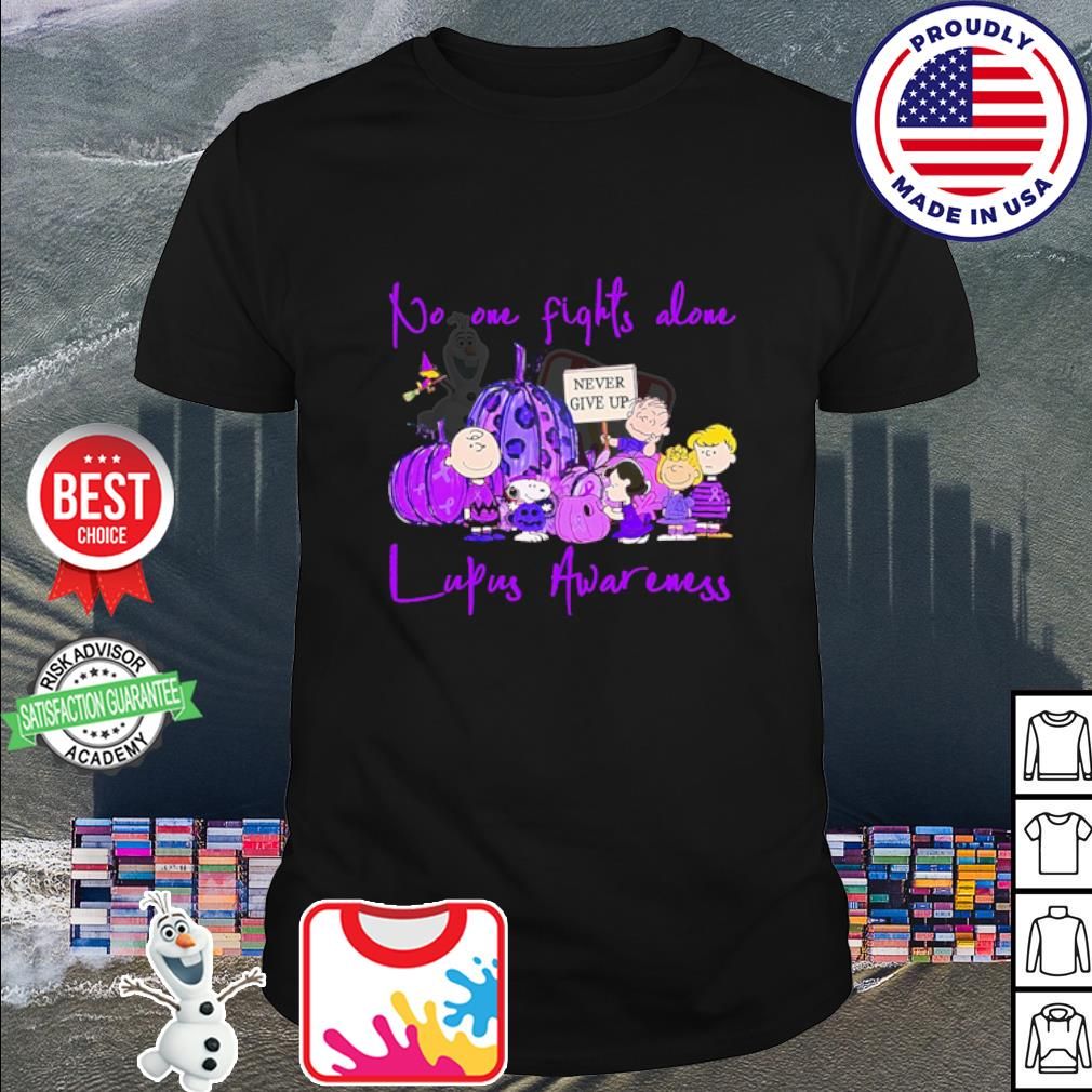 Halloween no one fights alone lupus awareness never give up shirt