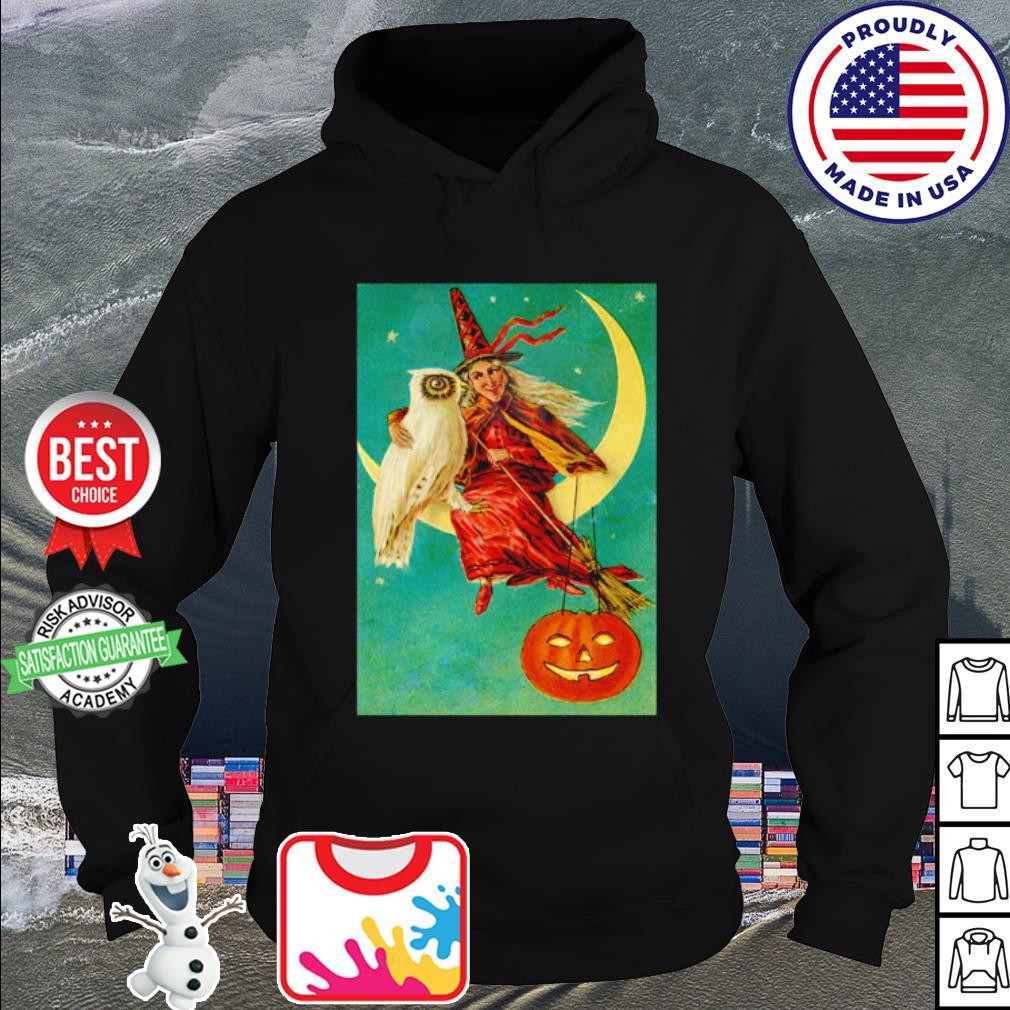 Halloween owl witch pumpkin moon s hoodie