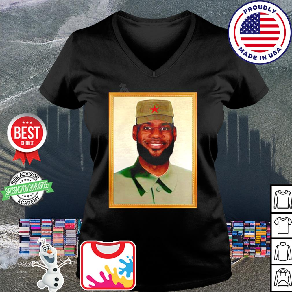 LeBron China Mao Zedong s v-neck t-shirt