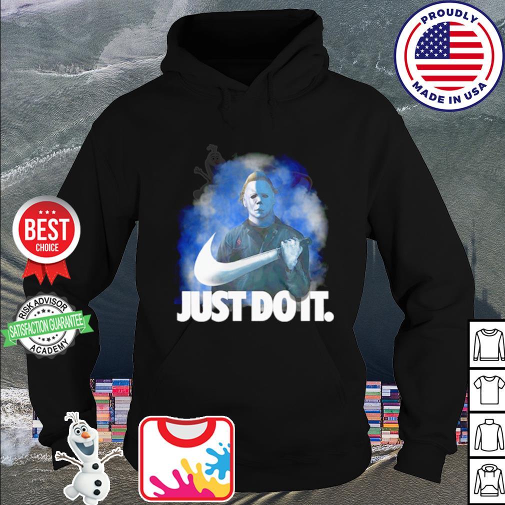 Michael Myers Just do it Nike Halloween s hoodie
