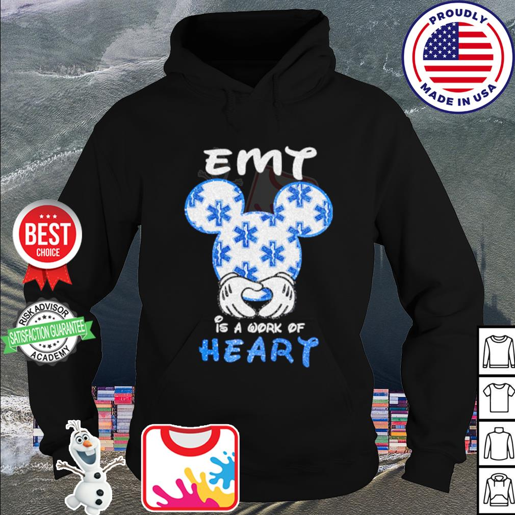 Mickey Mouse Emt is a work of heart s hoodie