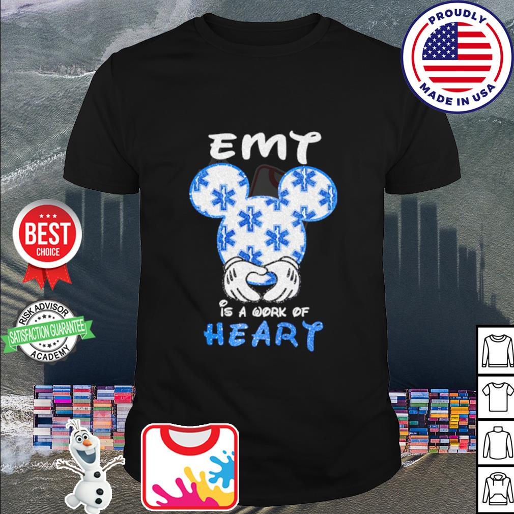 Mickey Mouse Emt is a work of heart shirt