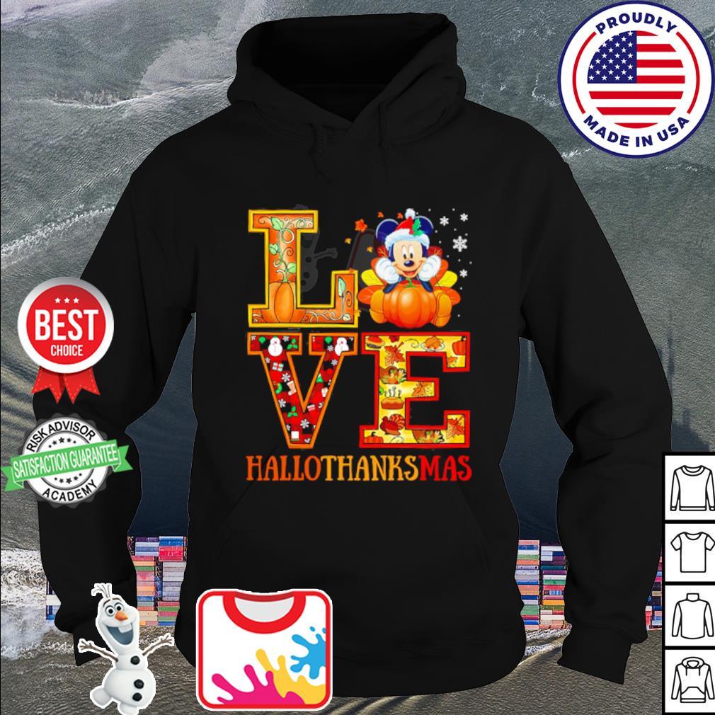 Mickey Mouse Hallothanksmas Merry Christmas s hoodie
