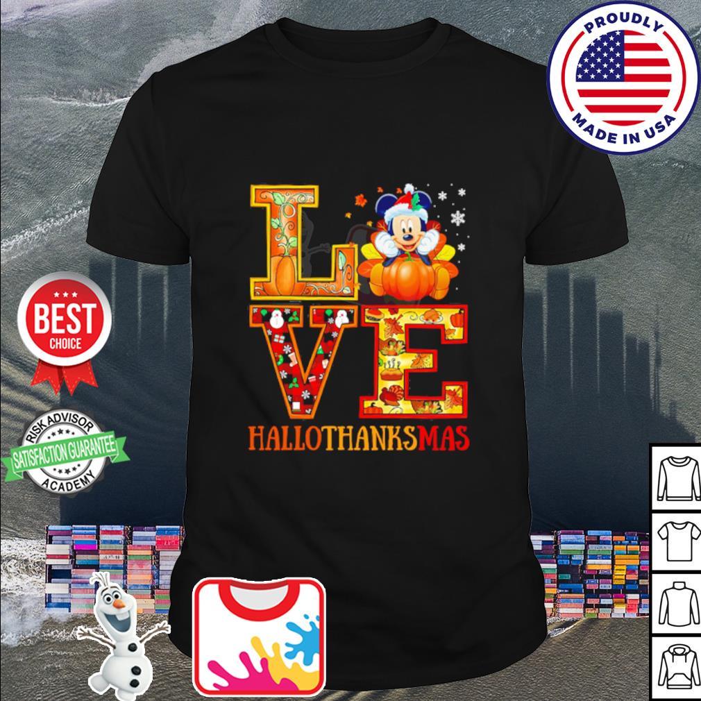 Mickey Mouse Hallothanksmas Merry Christmas shirt