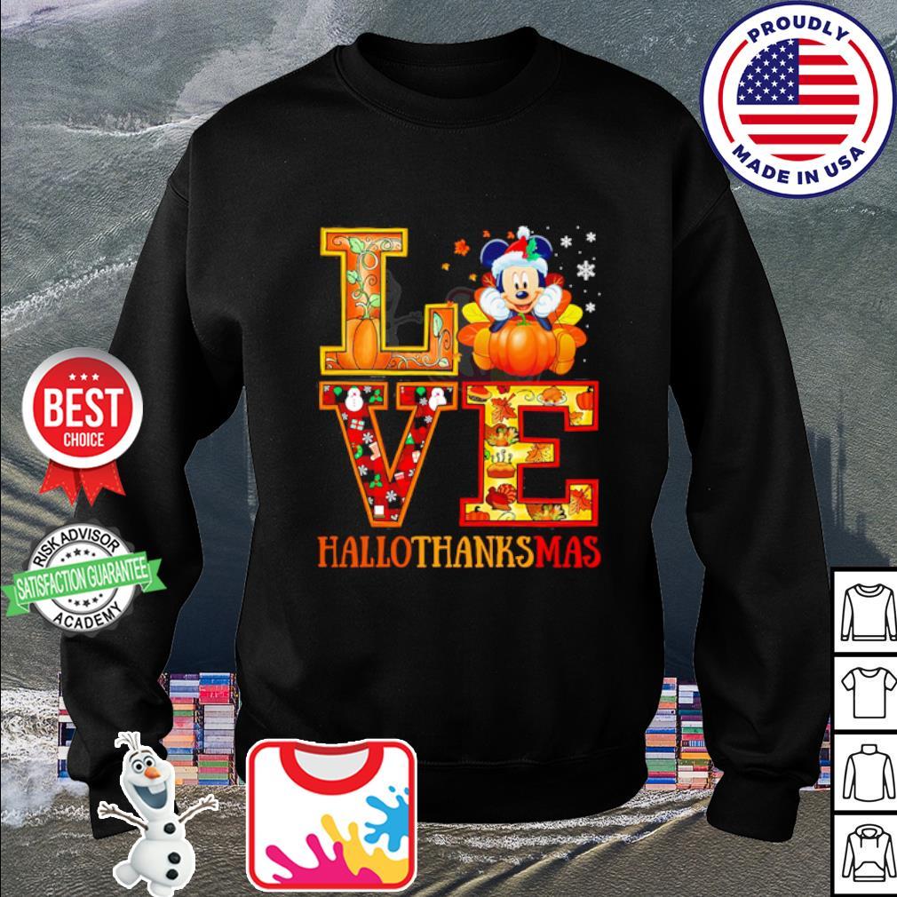 Mickey Mouse Hallothanksmas Merry Christmas s sweater