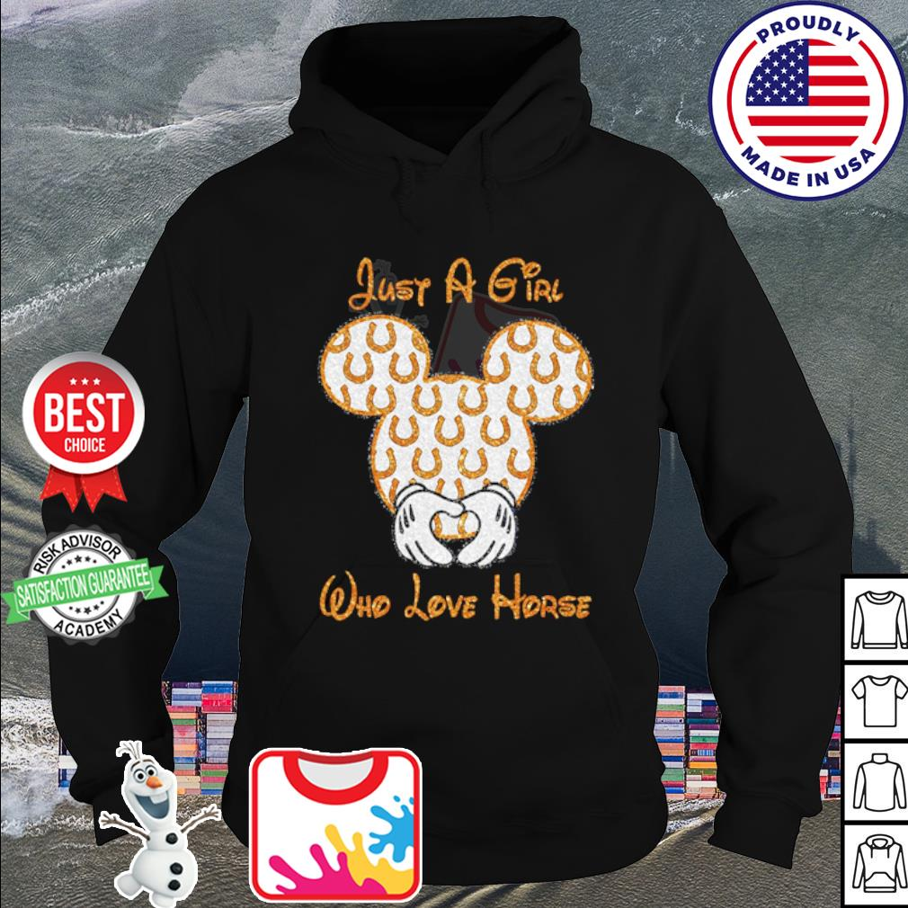 Mickey Mouse just a girl who love horse s hoodie