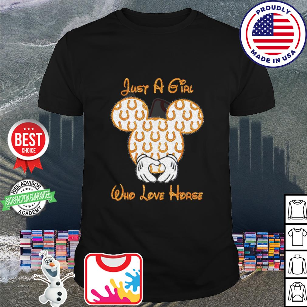 Mickey Mouse just a girl who love horse shirt