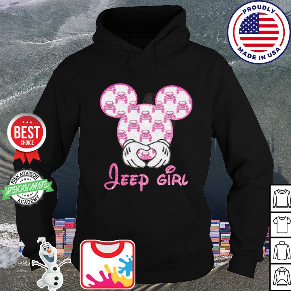 Mickey Mouse love Jeep girl diamond s hoodie