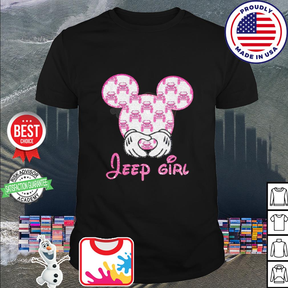 Mickey Mouse love Jeep girl diamond shirt