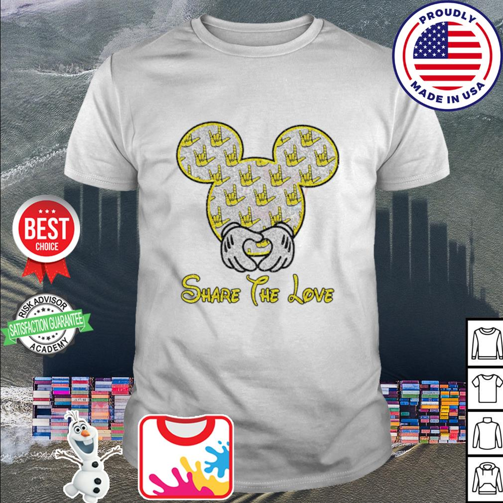 Mickey Mouse share the love shirt