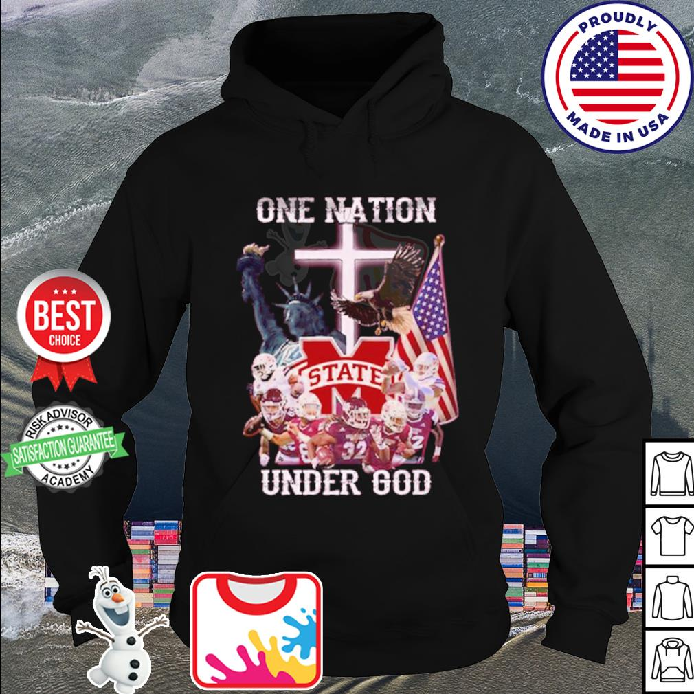 Mississippi State Bulldogs one nation under god American falg s hoodie