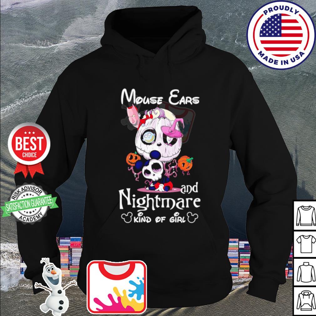 Mouse ears Jack Skellington and nightmare kind of girl Halloween s hoodie