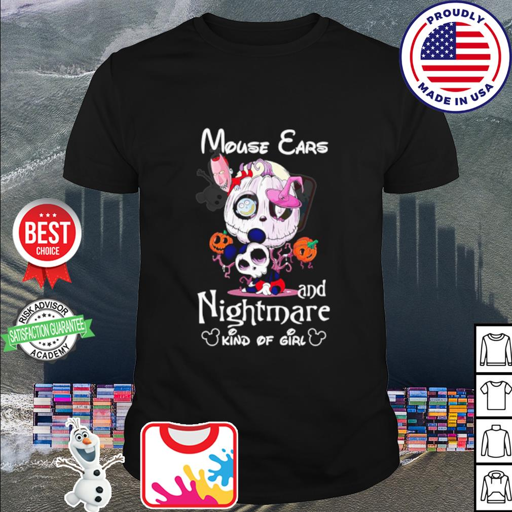 Mouse ears Jack Skellington and nightmare kind of girl Halloween shirt