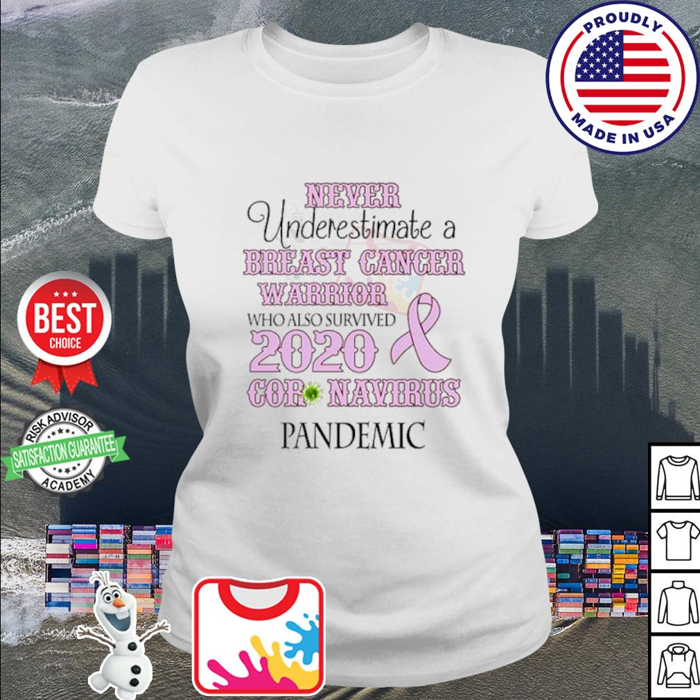 Never underestimate a breast cancer warrior who also survived 2020 Coronavirus s ladies tee