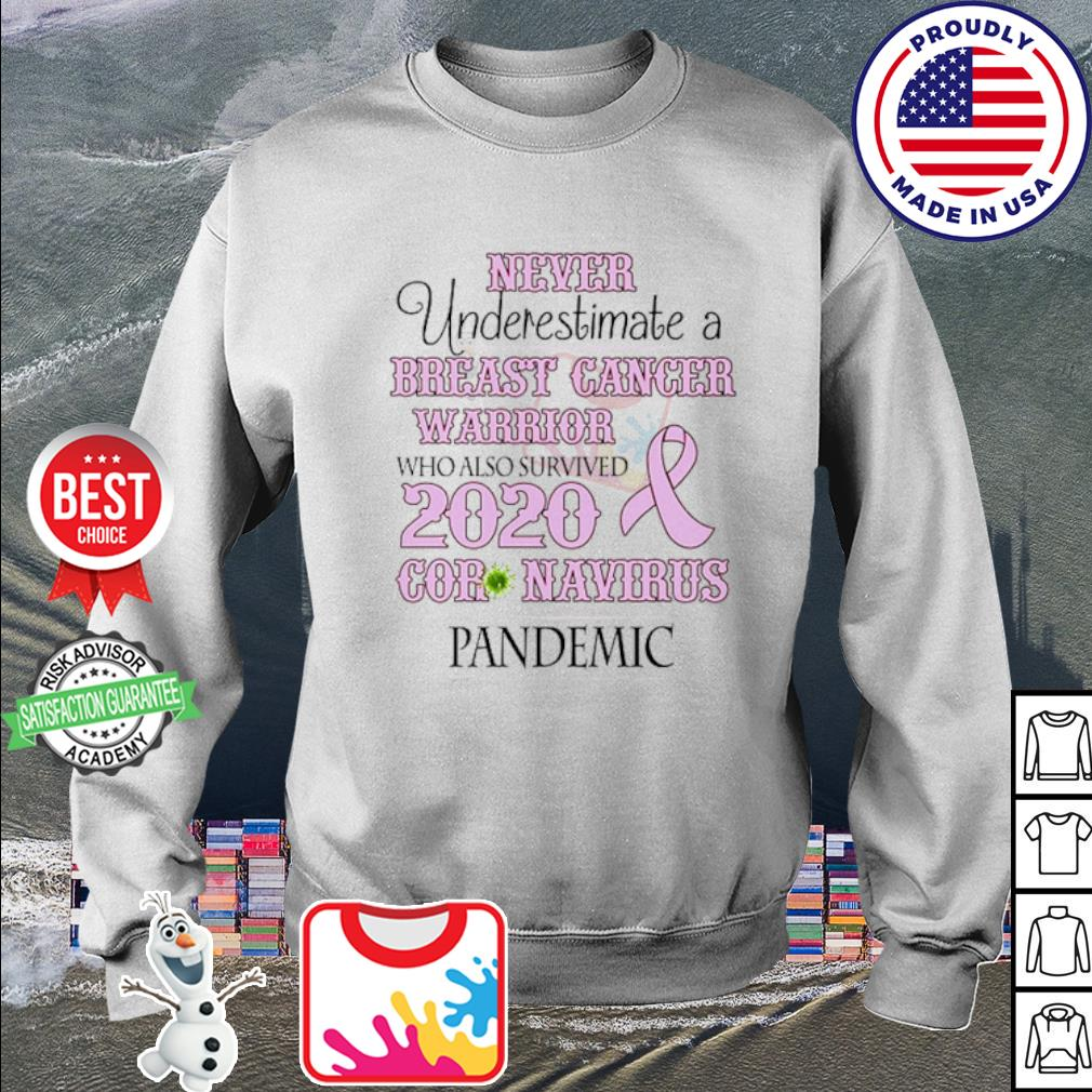 Never underestimate a breast cancer warrior who also survived 2020 Coronavirus s sweater