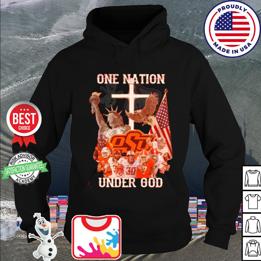 Oklahoma State Cowboys one nation under god American falg s hoodie