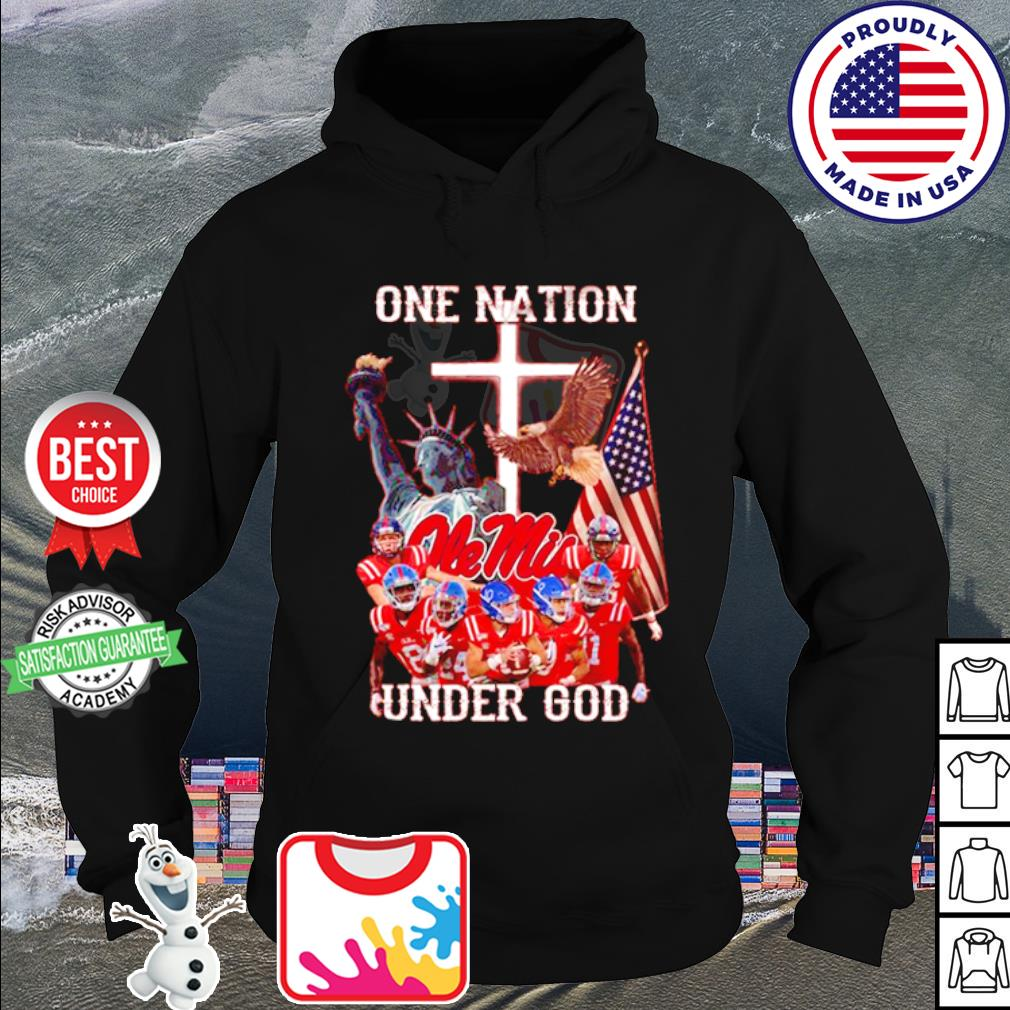 Ole Miss Rebels one nation under god American falg s hoodie