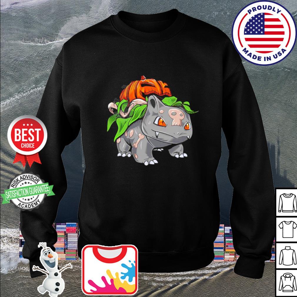 Pokemon Fushigidane pumpkin Halloween s sweater