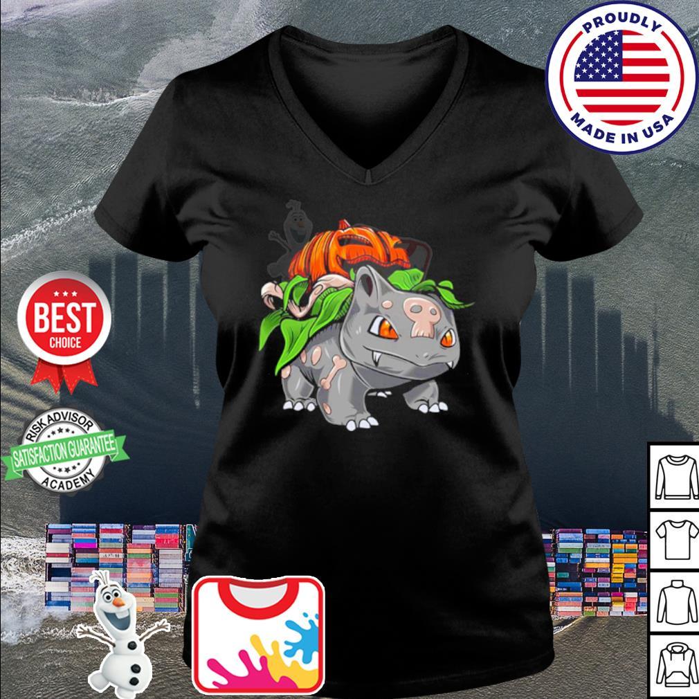 Pokemon Fushigidane pumpkin Halloween s v-neck t-shirt