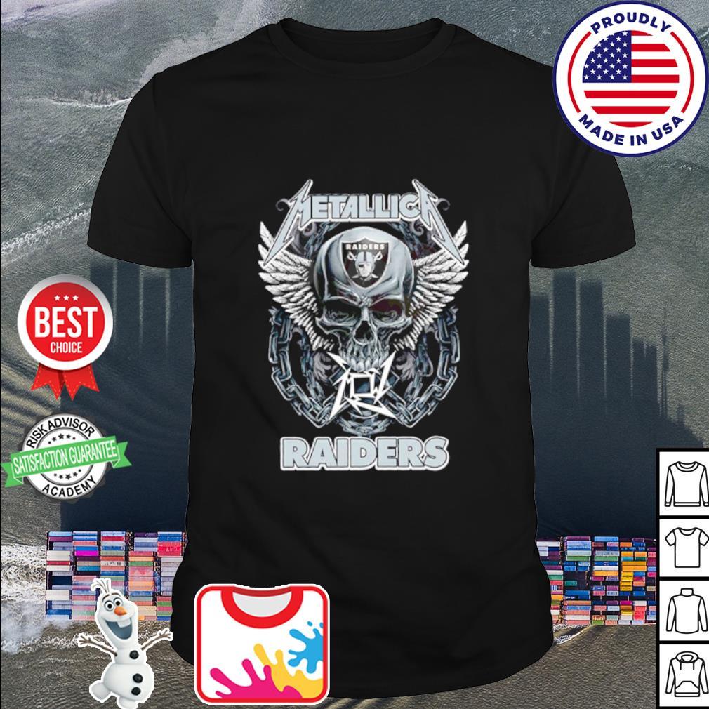 Skull Metallica Oakland Raiders shirt